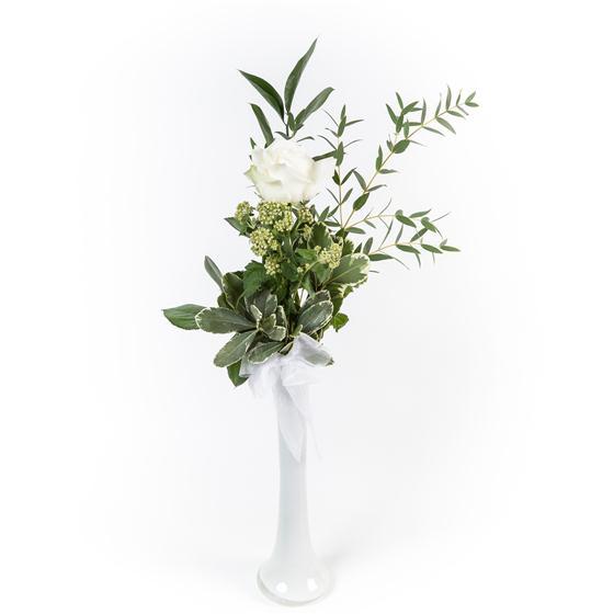 Single white rose fleurtatious florist dublin single white rose mightylinksfo